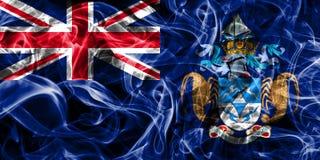 Tristan da Cunha smoke flag, British Overseas Territories, Brita. In dependent territory flag Royalty Free Stock Photography