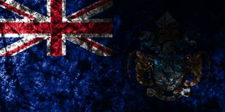 Tristan da Cunha grunge flag on old dirty wall, British Overseas Territories, Britain dependent territory flag. Tristan da Cunha smoke flag, British Overseas royalty free illustration