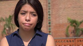 Triste adolescente o deprimido femenino Foto de archivo