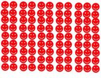 Triste dans l'icône de secteur de sourire Photo stock