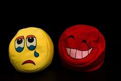 Triste e feliz Fotos de Stock