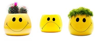 Triste heureux Photos stock