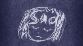 Triste: Pintura fácil da ilustração da escova Fotos de Stock Royalty Free