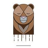 Triste principal d'ours Image libre de droits