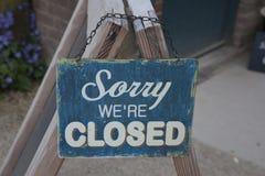 Triste somos cerrados Imagen de archivo libre de regalías