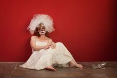 Triste toda la novia de las almas Foto de archivo libre de regalías