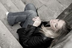 Tristesse photo stock