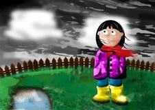 Tristesse de l'hiver illustration libre de droits