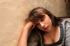 Tristeza adolescente Imagens de Stock Royalty Free