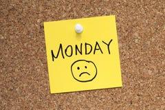 Tristeza de segunda-feira Imagem de Stock Royalty Free