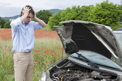 Tristeza do carro da avaria Foto de Stock