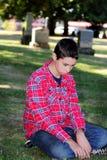 Tristeza do cemitério Imagem de Stock Royalty Free