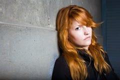Tristeza, retrato cambiante, muchacha hermosa del redhead. Fotos de archivo libres de regalías
