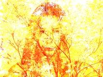 tristezza e milza di autunno Beautifu Immagine Stock Libera da Diritti