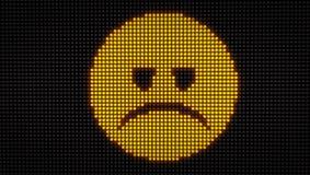 Tristezza LED dell'emoticon Immagine Stock
