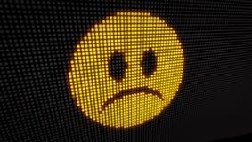 Tristezza LED dell'emoticon royalty illustrazione gratis