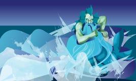 Tritón, dios stock de ilustración