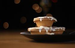 Triti i grafici a torta e la crema Immagine Stock Libera da Diritti