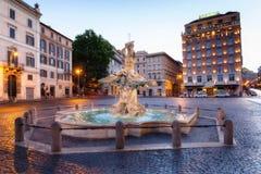Triton-Brunnen im Marktplatz Barberini Lizenzfreies Stockbild
