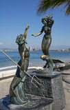 Triton et Nereid (sculpture) Photo libre de droits