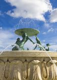 Triton fontanna Zdjęcia Stock