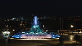 Triton fontanna lokalizować na peryferii miasto brama Valletta, Malta zdjęcia royalty free