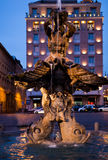 Triton Fountain at Barberini Square, Rome, Italy Stock Photo