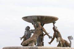 Triton Fountain in capital of Malta - Valletta, Europe Stock Photography