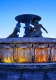 Triton Fountain in the evening light, Floriana, Malta. The view of the Tritons Fountain in Floriana at the entrance to the Valletta city in the evening light Royalty Free Stock Photo