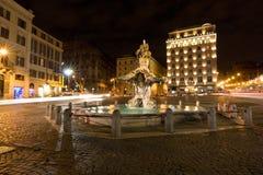 Triton Fountain (Fontana del Tritone) Rome Stock Images