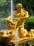 Triton fountain in lower park Royalty Free Stock Photos