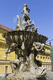 The Triton Fountain - Olomouc, Czech republic Stock Photos