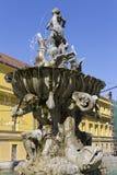 The Triton Fountain - Olomouc, Czech republic Stock Photos