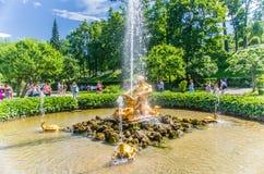 Triton fountain in Peterhof Royalty Free Stock Image