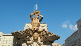 Triton Fountain Piazza Barberini Rome Italy stock footage