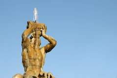 The triton fountain in Rome Royalty Free Stock Images