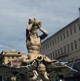 Triton fountain, Rome. Bernini's Triton fountain, a baroque fountain from the 1600s in Rome Stock Photos