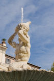 Triton Fountain, Rome, Italy Royalty Free Stock Photos