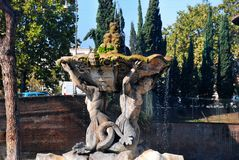 Triton fountain in Rome, Italy Royalty Free Stock Photo