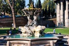 Triton fountain in Rome, Italy Royalty Free Stock Image
