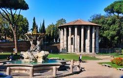 Triton fountain in Rome, Italy Stock Photography