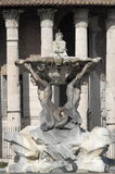 Triton fountain in Rome Stock Photography