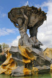 Triton Fountain sculpture in Rome Royalty Free Stock Photography