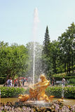 Triton fountain in St. Petersburg, Russia Royalty Free Stock Photo