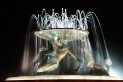 The Triton Fountain In Valletta, Malta stock photography