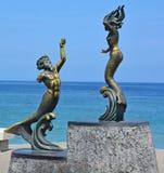Triton and Mermaid Stock Photography