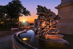 Triton. Obelisk fountain, Olavo Bilac Garden, Lisbon, Portugal Stock Photography