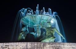 Triton springbrunn i Valletta - Malta Royaltyfri Fotografi