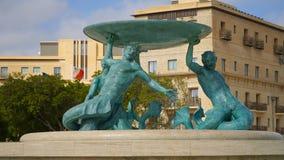 Triton Square in Valletta, Malta. Valletta - Italian word for Small valley is the capital city of Malta Stock Photos