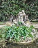 Triton of Villa Trabia. The statue of Triton in the park of Villa Trabia, Palermo Stock Image